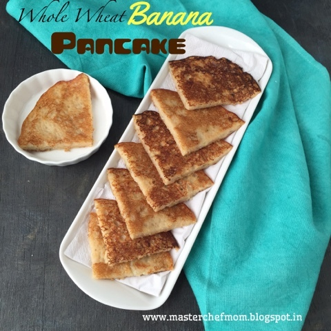 Banana Pancake with a surprise | Whole Wheat Banana Pancakes | How tomake Pancake | Stepwise Pictures