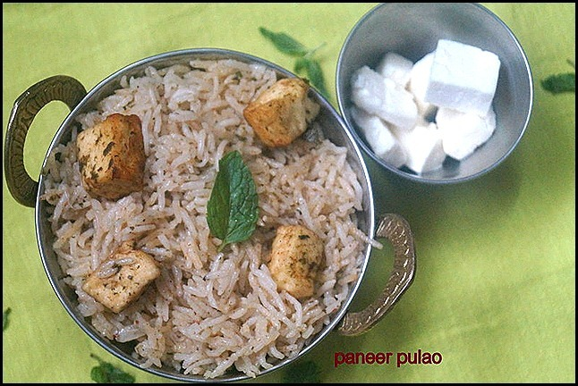 PANEER PULAO/LUNCH BOX IDEAS/RICE VARIETY/PANEER RECIPES