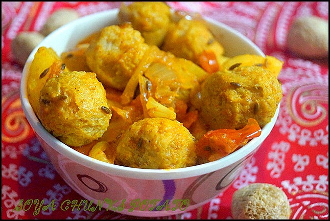 SOYA CHUNKS POTATO/SOYA RECIPES