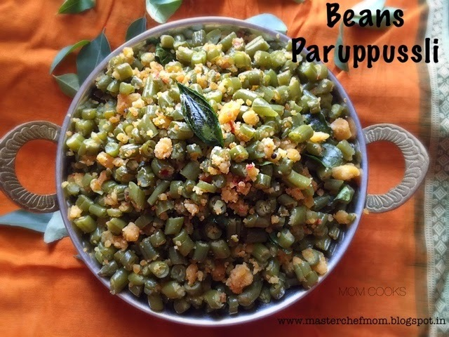 Beans Paruppussli - Timeless recipe from a Tamil Household