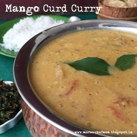 Mangai Moru Sambar | Mango Curd Curry | How to make Mangai Moru Sambar| Step by Step pictures