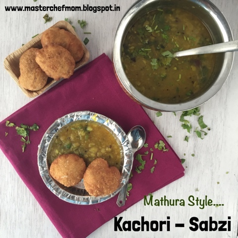 Mathura Special Dal Kachori with Aloo Sabzi | How to make Kachori-Subzi from Scratch | Street Food of Mathura | Stepwise Pictures