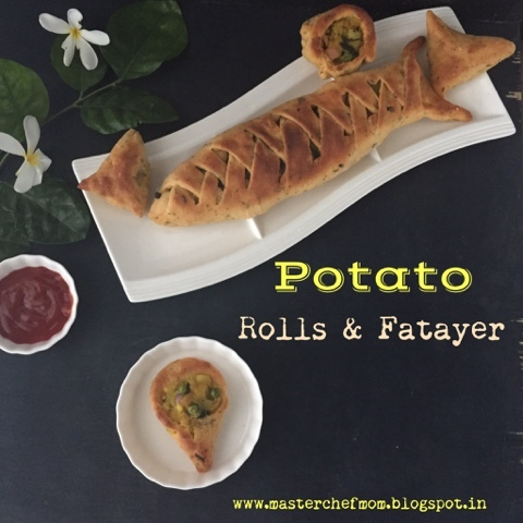 Potato Rolls and Fatayer | How to make Rolls and Fatayer | Recipe with Stepwise Pictures
