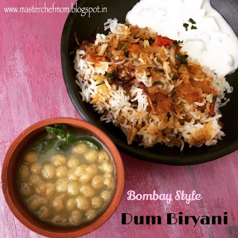 Bombay Vegetable Dum Biryani | Bombay Biryani | Stepwise Pictures