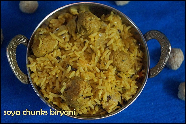 SOYA CHUNKS BIRYANI/LUNCH BOX IDEA/SOYA RECIPES