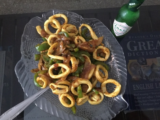 Stir fried Squid Rings
