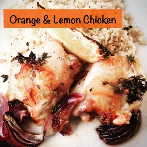 Orange & Lemon Chicken Traybake