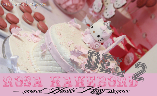 Rosa kakebord Hello Kitty stil – del 2