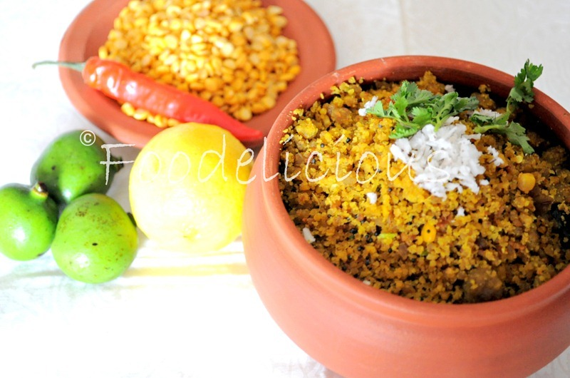 Kairichi Vaatli Daal ( low oil version)..a Chaitra specialty from Maharashtra, Step by Step