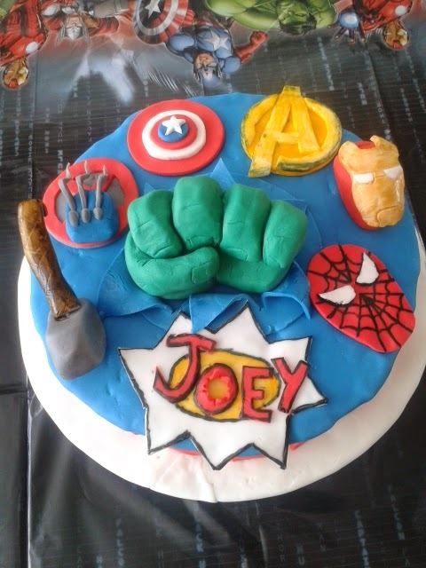 Marvel Avengers 10th Birthday Cake