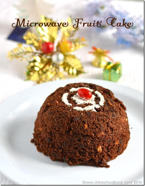 Microwave Fruit Cake/Eggless Plum cake recipe in 3 Minutes-Microwave Recipes