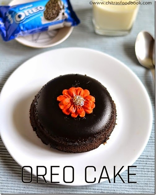 5 MINUTES MICROWAVE EGGLESS OREO BISCUIT CAKE RECIPE