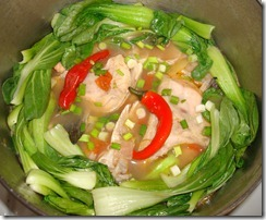 Sinigang na Isda (Sour Fish Soup–Salmon Head)