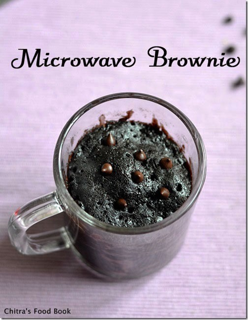EASY EGGLESS BROWNIE RECIPE IN MICROWAVE-ONE MINUTE RECIPE