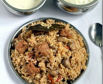 Soya Biryani Recipe Hebbar S Kitchen
