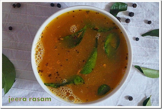 jeera rasam for cold