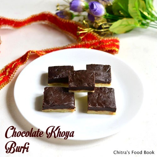CHOCOLATE KHOYA BURFI RECIPE-DIWALI SWEETS RECIPES