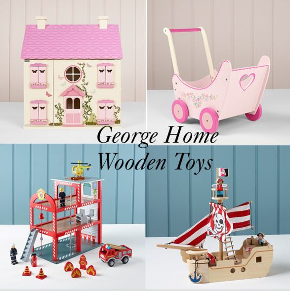 Half Term Ideas: New George Home Wooden Toys Collection at Asda
