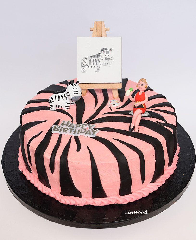 Pink Zebra Cake – a step by step tutorial