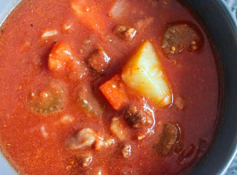 Beef, Potato and Tomato Soup