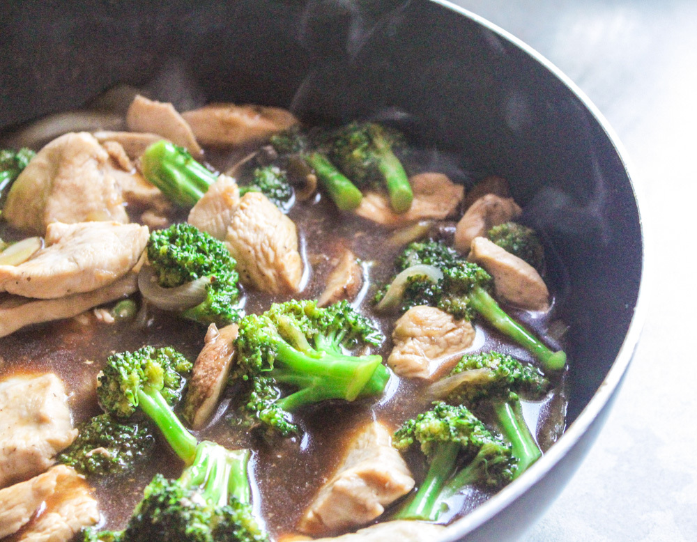Chicken and Broccoli with Mushrooms