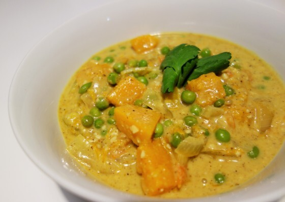 Korma Curry with Pumpkin and Peas