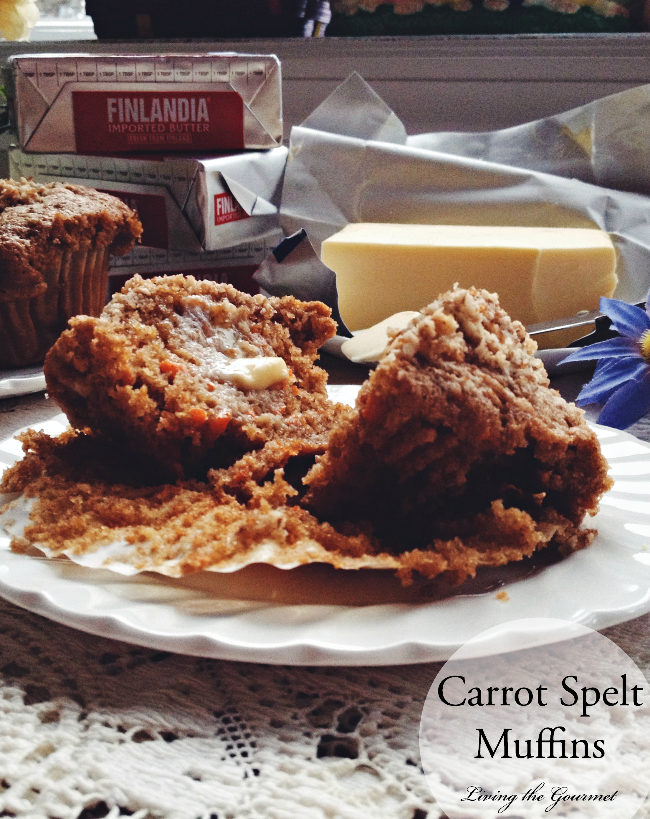 Carrot Spelt Muffins & $25 Giveaway