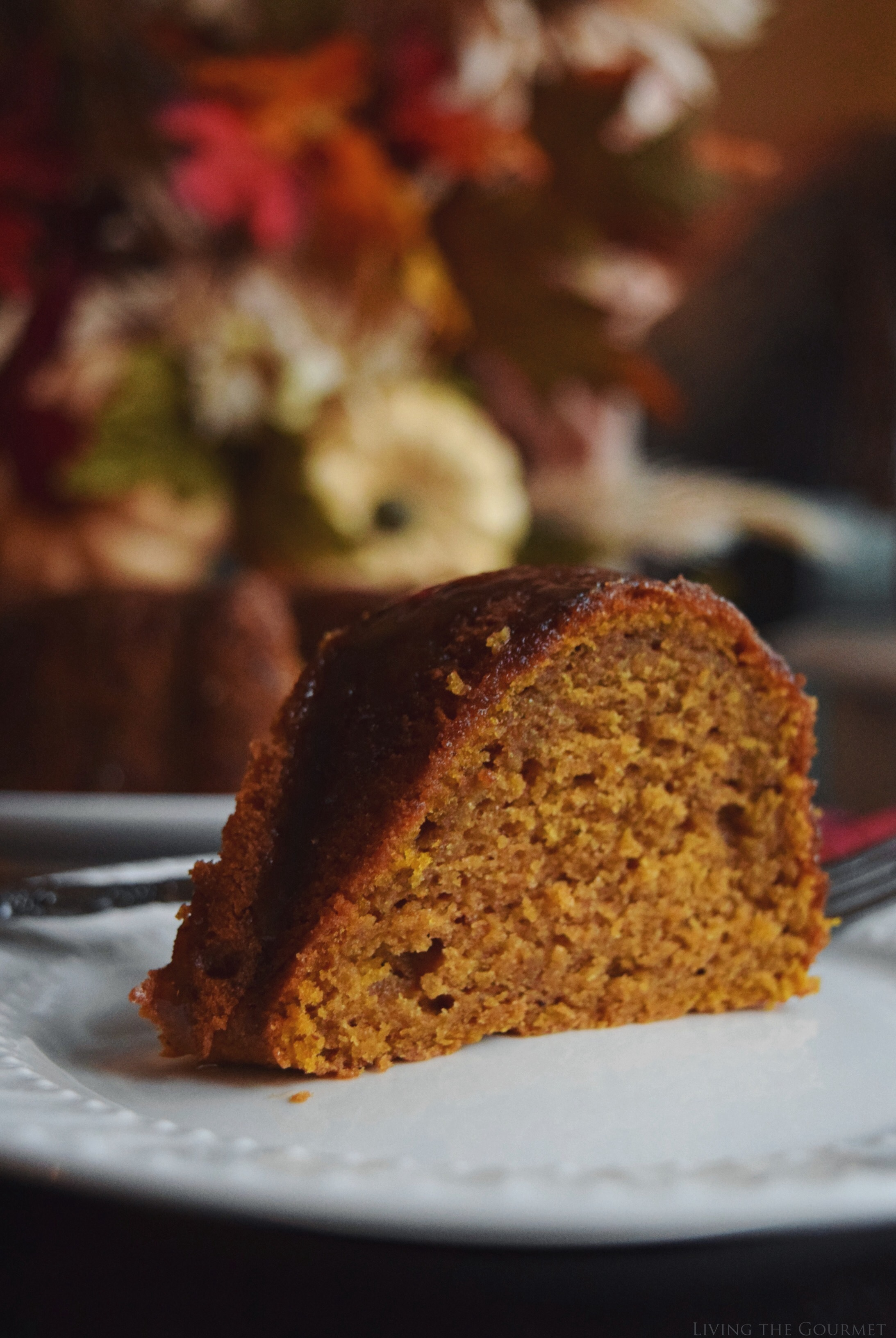 Pumpkin Spice Cake with Caramel Drizzle – #BundtBakers