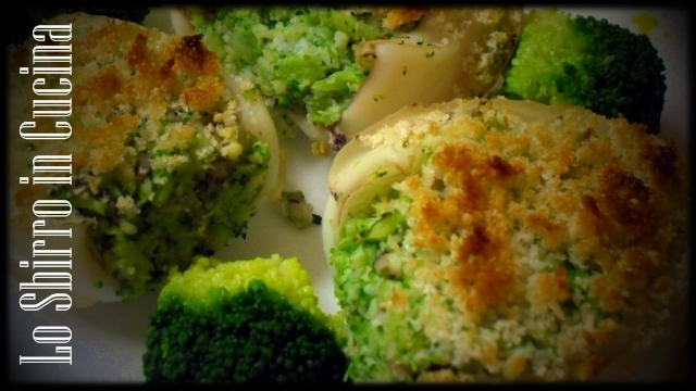 Seppie gratinate ai broccoli