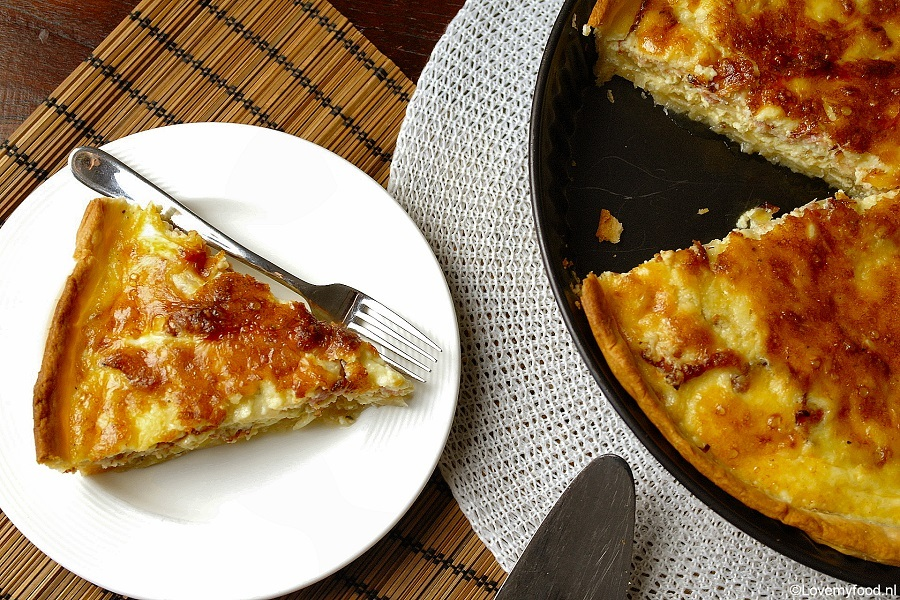 Bacon-kaas-ui quiche