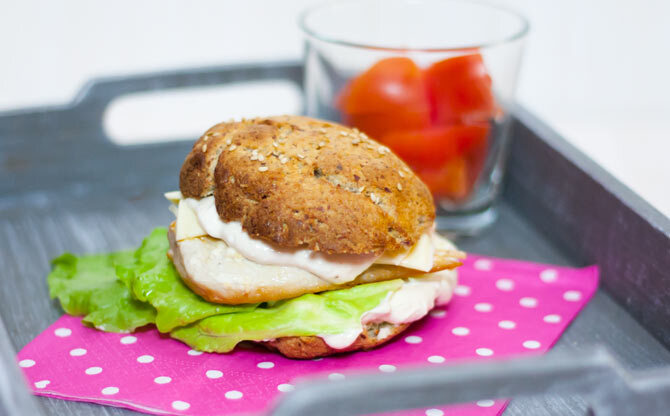Low Carb Chicken Burger
