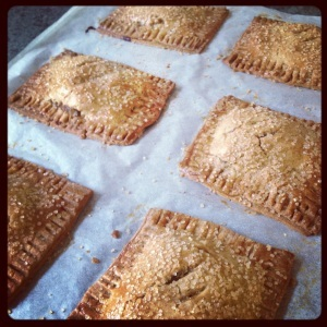 Apple and Plum Brown Butter Hand Tarts #Baketogether