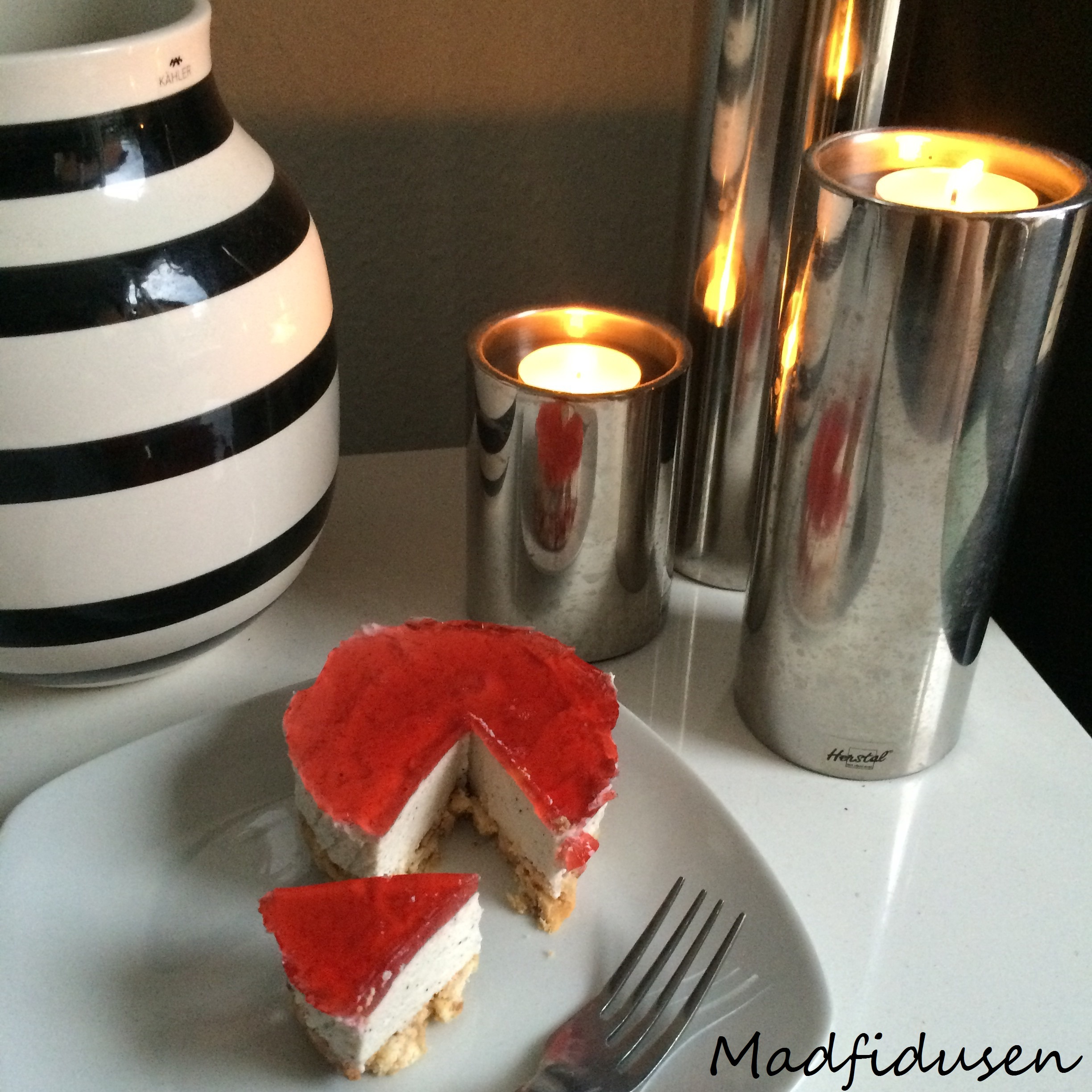 The one with all the cheesecakes: Portionsanrettet strawberry cheesecake