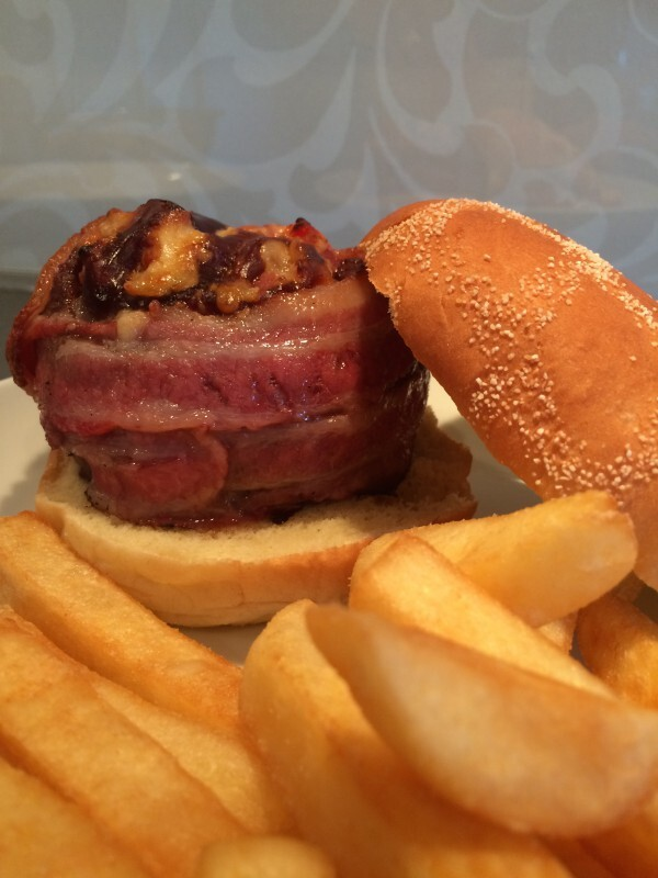Veronicas Beer Can Bacon Burgers