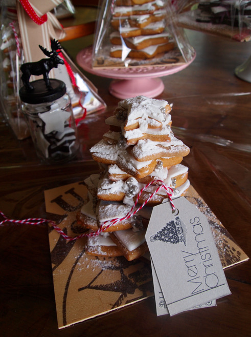 How to make Christmas cookie trees.