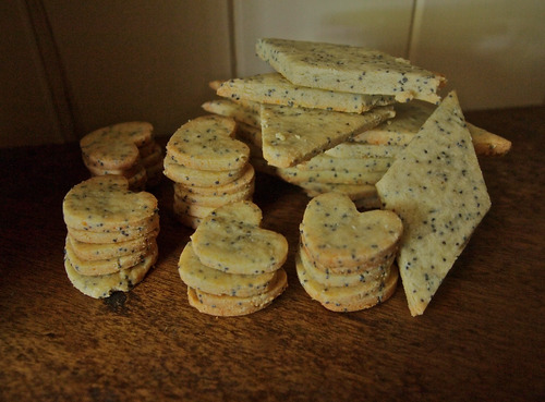 Poppyseed and parmesan crackers. Gluten and egg free