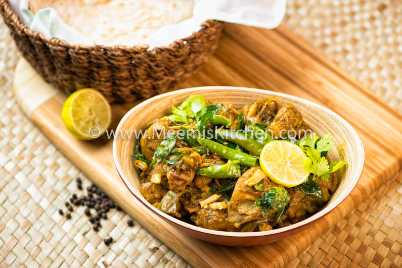 Pepper Chicken with Lime (Kerala Style)