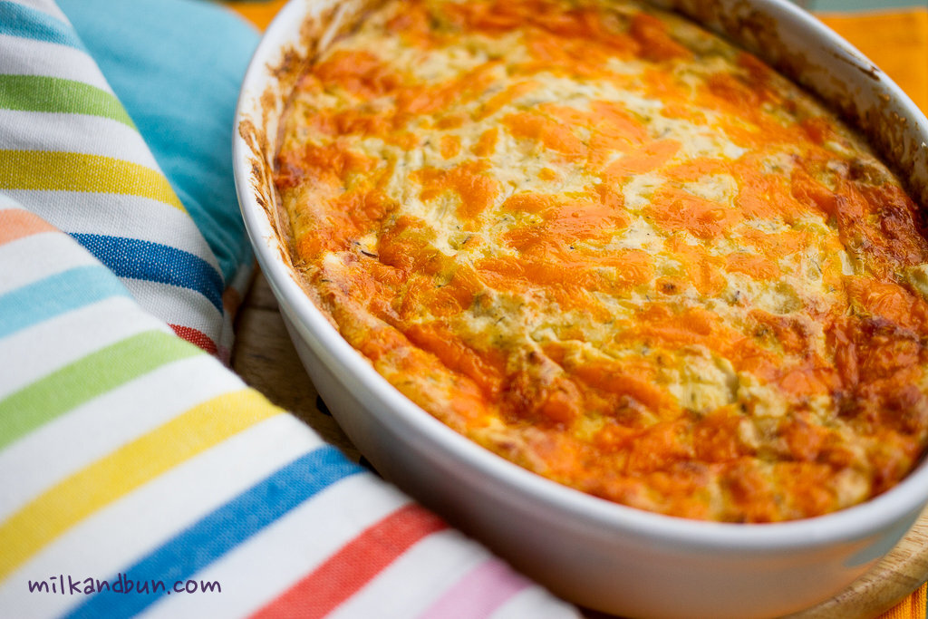 Cabbage casserole with farmer cheese