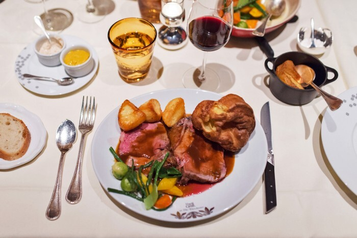Sunday Roast at The Grill, The Dorchester Hotel