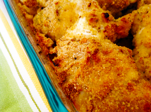 Juicy Chicken Portions Topped With Crunchy Greek Yogurt Crust
