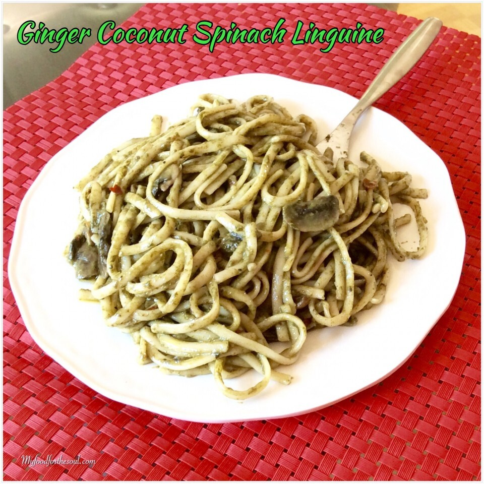 Ginger Coconut Spinach Linguine