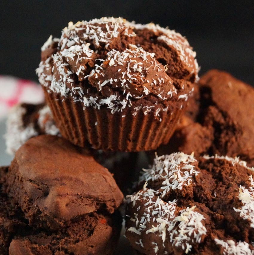 Chocolate, Coconut & Goji Berry Muffins
