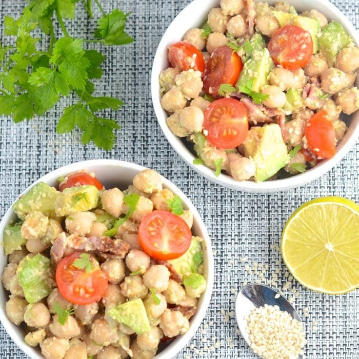 Avocado, Bacon and Chickpea Salad