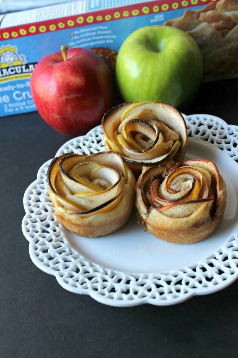Cinnamon Apple Rose Tarts
