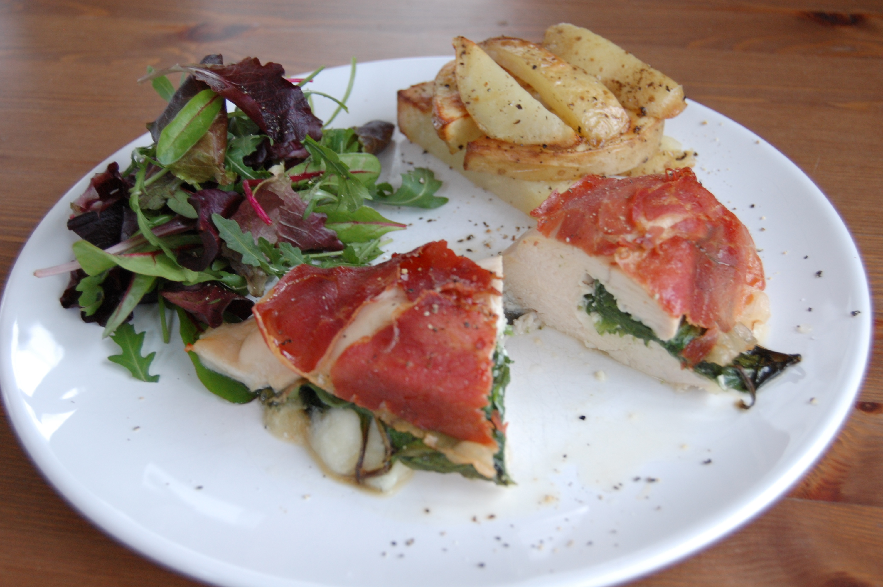Chicken & Spinach Melts with Parma Ham