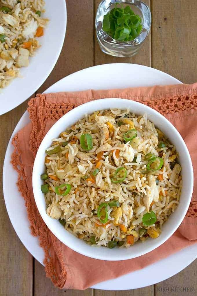 Indian Chicken Fried Rice – Restaurant Style