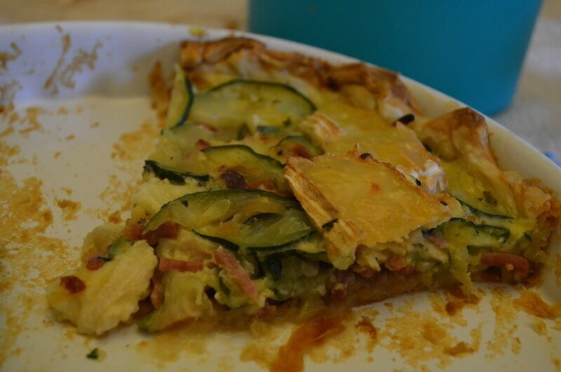 Tarte jambon courgettes