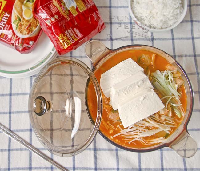 A Fermented Napa Cabbage Stew Called Kimchi Jjigae (김치 찌개)