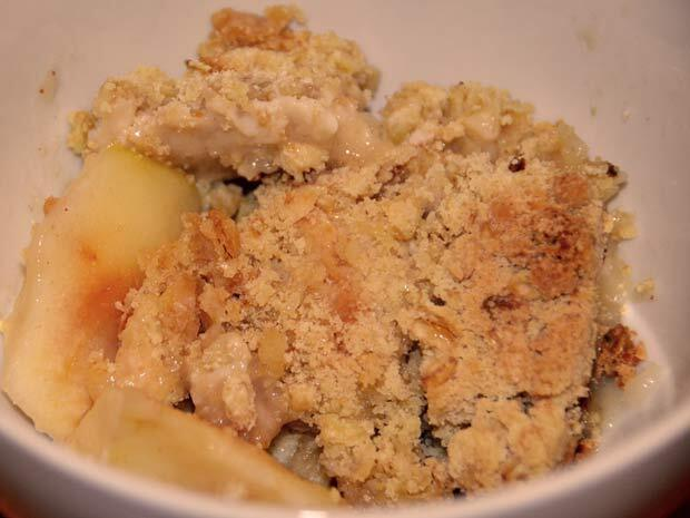 how long to reheat apple crumble