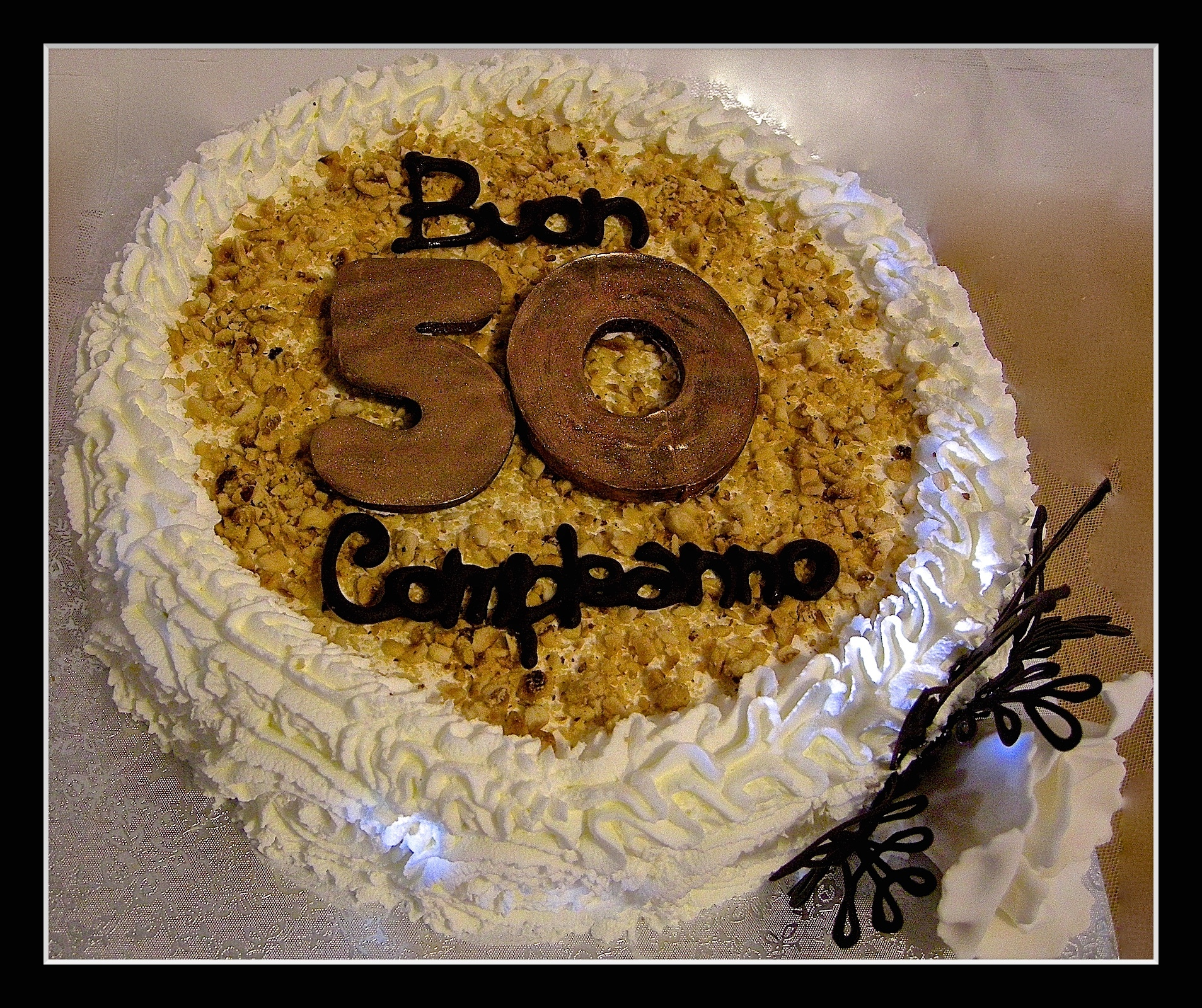 "Torta compleanno:"" 50 """